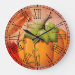 Vintage Rustic Home Sweet Home Country Autumn Large Clock