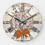 Cotton & berries large clock