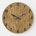 Natural Woodgrain Look Clock
