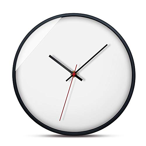 BB67 Kitchen Wall Clock,European Minimalist Creative Wall Clock Living Room Decorated with Metal Clock Feature Round Home/Office/School Clock (F, A)