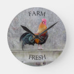 Farm Fresh Rooster Clock