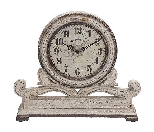 Deco 79 Wood Table Clock, 16 by 15-Inch