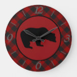 black bear large clock