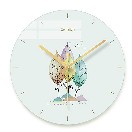 FlorLife Big Modern Wall Clock Contemporary Large Decorative Glass Wall Clocks with Numbers for Home Living Room, Kitchen, Office