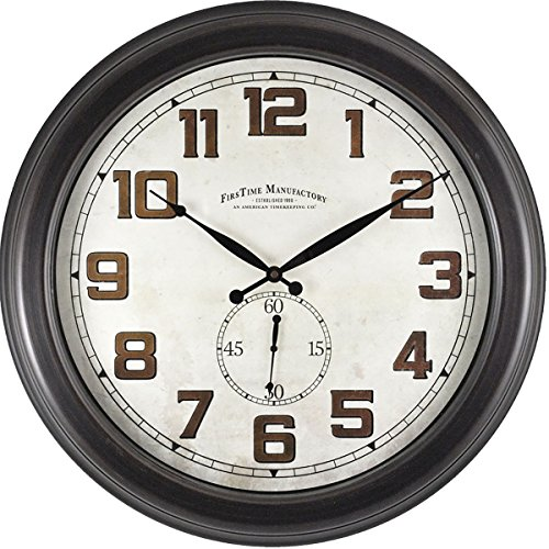 FirsTime 99664 Blake Dual Wall Clock, Oil Rubbed Bronze