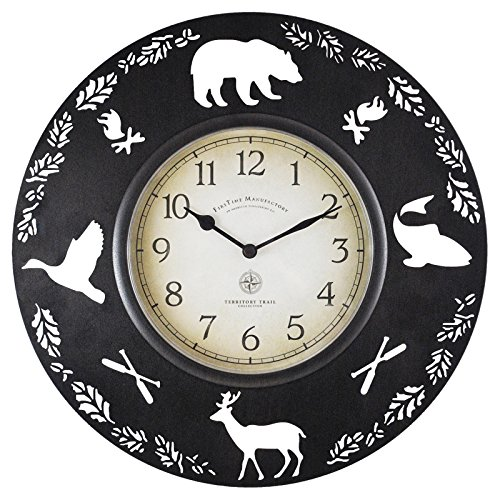 FirsTime 10034 Lodge Collection Wall Clock, Aged Brown