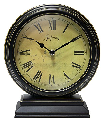 Infinity Instruments 12131KG-TW The Dais Distressed Round Table Clock