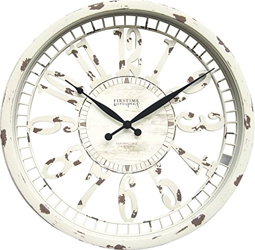 FirsTime 31043 Whitney Wall Clock, Antique Cream