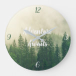 Adventure Awaits | Forest Large Clock