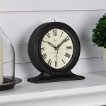 FirsTime 99516 Antolini Tabletop Clock, Black