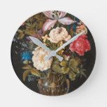 Balthasar Van Der Ast – Still-Life With Flowers. Round Clock