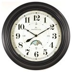 FirsTime 25676 Luna Wall Clock, Oil Rubbed Bronze