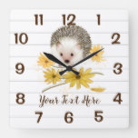 Hedgehog Floral  Decor Wall Clocks