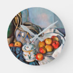 Paul Cezanne – Still Life With Apples Round Clock
