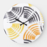 Cool, unique, trendy, urban colorful brush strokes large clock
