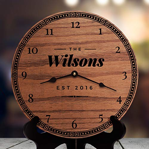 Vi457ad Home Decor for Mantels and Fireplaces Rustic Modern Home Decorating Ideas Living Room Decor Ideas with Fireplace Fresh Retro, Clock Only, 12″ Wall Clock