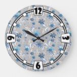 Cute floral pattern , flowers , floral pattern large clock