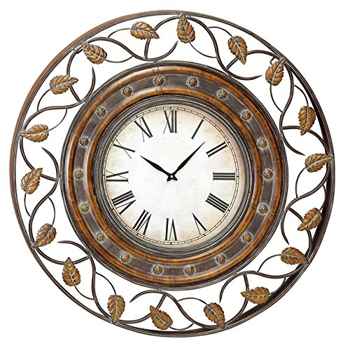 Deco 79 57720 Metal Wall Clock To Track The Time 36″ Tarnished Bronze Finish
