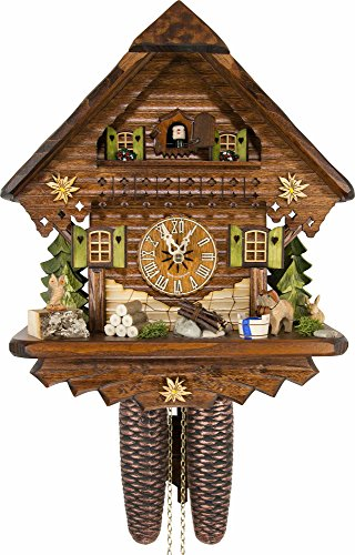 German Cuckoo Clock – Summer Meadow Chalet – BY CUCKOO-PALACE with 8-day-movement – 13 1/3 inches height