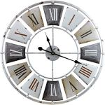 Sorbus Wall Clock, Centurion Roman Numeral Hands, Vintage Industrial Rustic Farmhouse Style Home D?cor, Analog Wood Metal Clock, 24″ Round