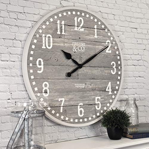 FirsTime & Co. 25708 20″ Arlo Gray Wall Clock, Light