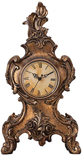 Kensington Hill Taryn Vintage Style 16 1/4″ High Table Clock