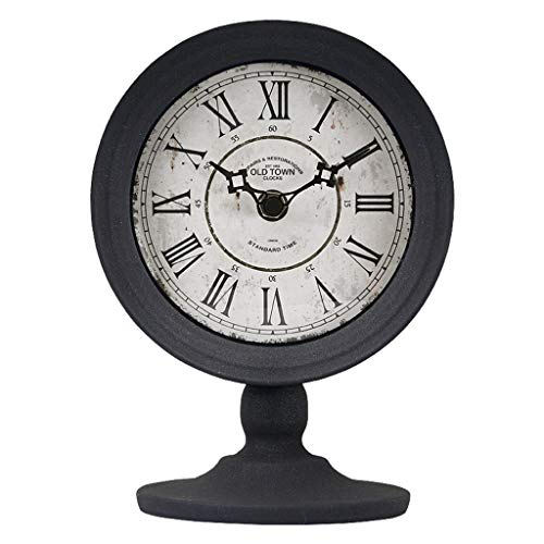 Yxx max Bracket Clock Table Clock for Living Room Decor Bedrooms Bathroom Vintage Desk Clocks Battery Operated Analog Electric Non-Ticking Silent Roman Decorative Home Outdoor (Color : B)