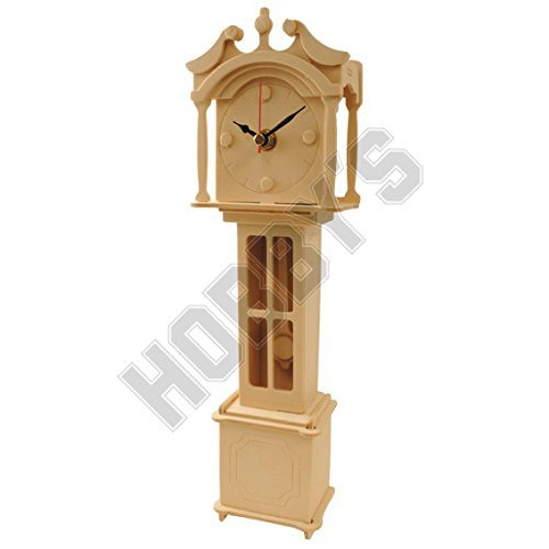 Wood Craft Assembly Grand Father Clock Wooden Construction Clock Kit