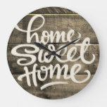 Home Sweet Home | Wood Large Clock