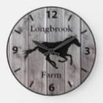 Farm Ranch or Stable Name 2 Custom Barnwood Styled Large Clock