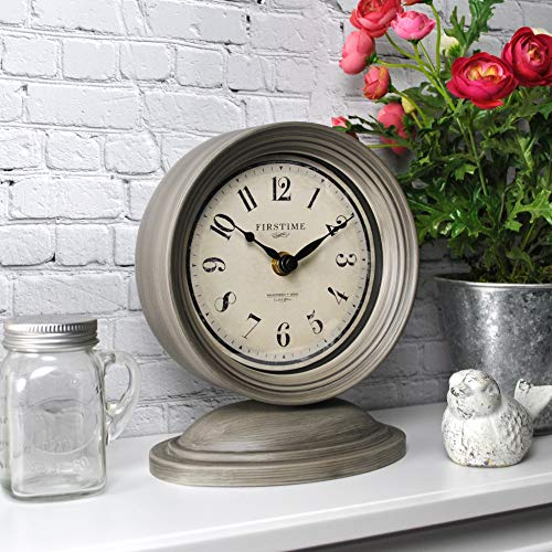 FirsTime & Co. Graham Tabletop Clock, 7.5″ x 6.5″, Dark Gray