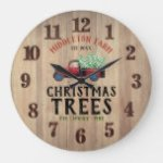 Barn Wood – Farm Fresh 🎄 Christmas Trees Large Clock