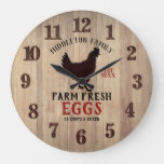 Farm Fresh 🥚🐓 Eggs Large Clock