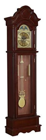 Coaster Home Furnishings Harris Grandfather Clock with Chime Brown Red and Clear,