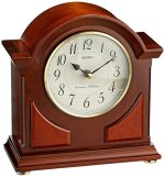 Seiko 9″ Brown Wooden Case with Chime Mantel Clock