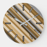 Sandy Beach Colors Inspired Striped Pattern Clock