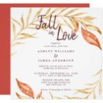 Fall in Love Golden Foliage Autumn Red Wedding Invitation