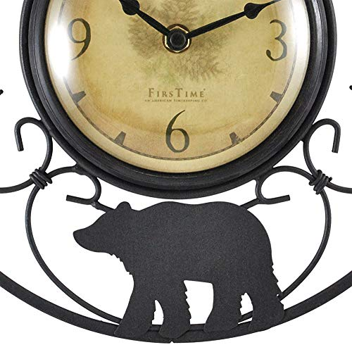 FirsTime & Co. Wildlife Wire Wall Clock, 11″, Brown/Black