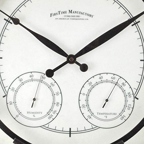 FirsTime & Co. Park Outdoor Wall Clock, 18″, Oil Rubbed Bronze