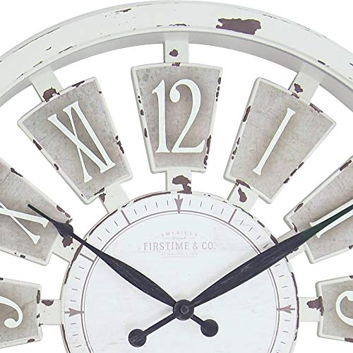 FirsTime & Co. Antique Plaques Wall Clock, 20″, White