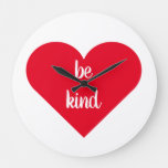 Inspirational Quote Be Kind Large Clock