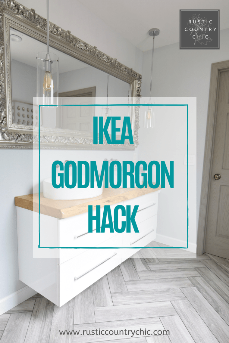 IKEA bathroom hack Pinterest pin