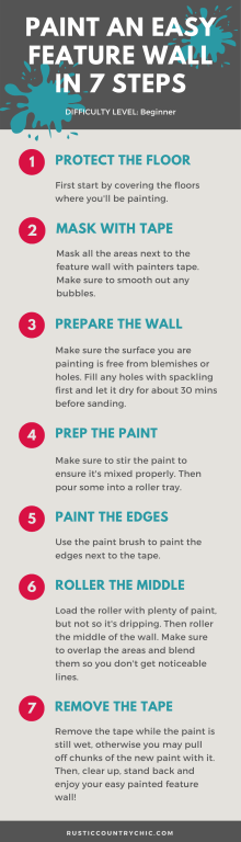 Step by step guide to paint a feature wall