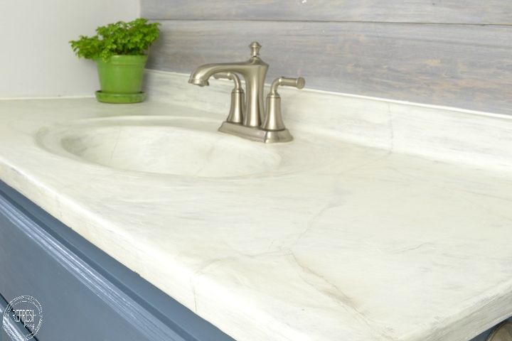 DIY marble countertop - Refresh Living