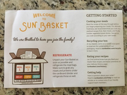 Sun Basket Welcome