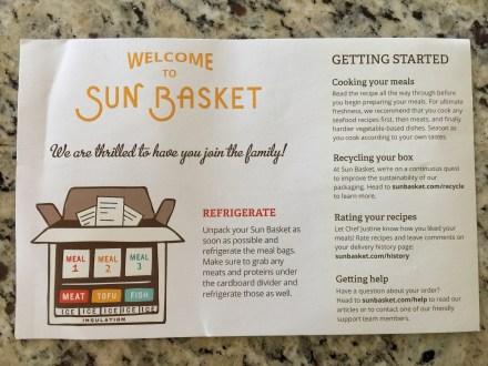 Sun Basket Welcome