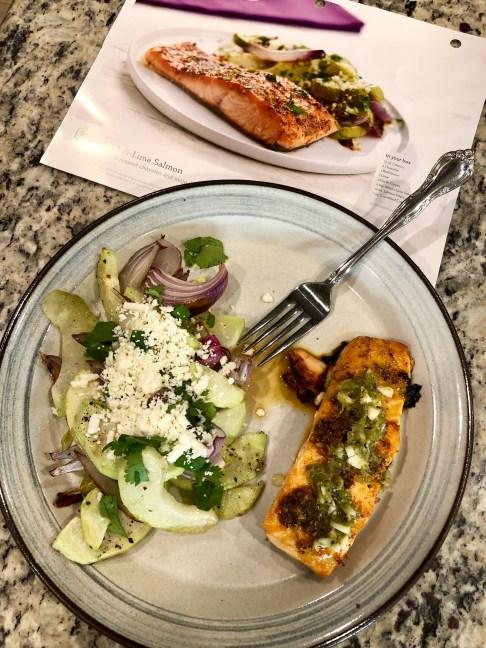 Home Chef: Chili-Lime Salmon