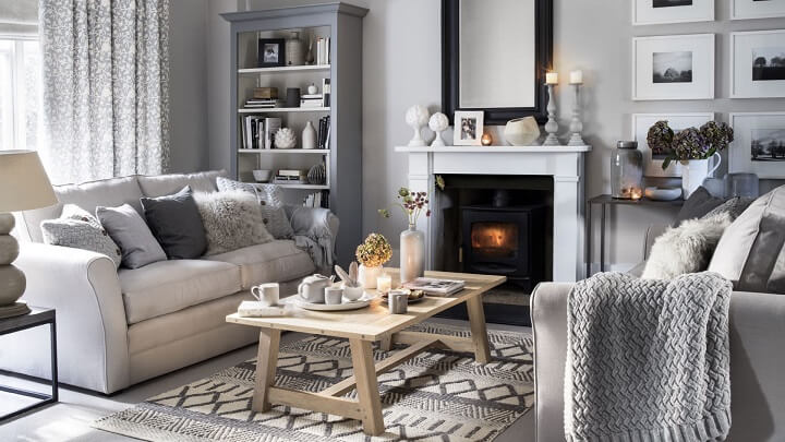 decorating ideas to make a small living room look bigger gray wood tile floor 10 the than it is