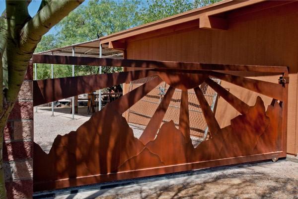 Custom Rustic Metal Entry Gates and Openers  Tucson AZ