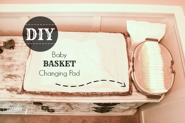 DIY Baby Basket Changing Pad
